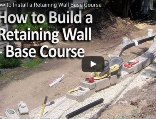 How to Install a Retaining Wall – Base Course