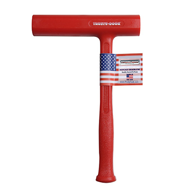 8 Oz Slimline Dead Blow Hammer Dead blow helps eliminate bounce back when striking hardened surfaces. 8 oz slimline dead blow hammer