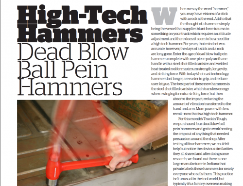 Truckin Magazine Reviews Our Ball Peen Hammers