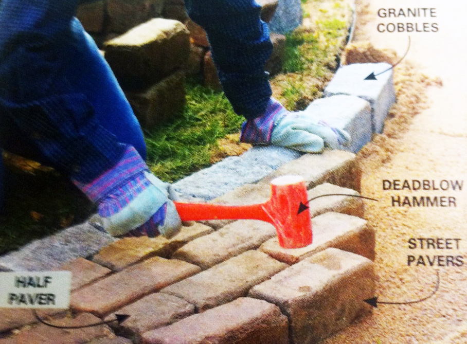 53 Oz Soft Face Dead Blow Hammer Used for leveling pavers and wall units. 53 oz soft face dead blow model 4